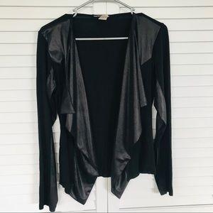 Black Long Sleeve Open Cardigan Size M